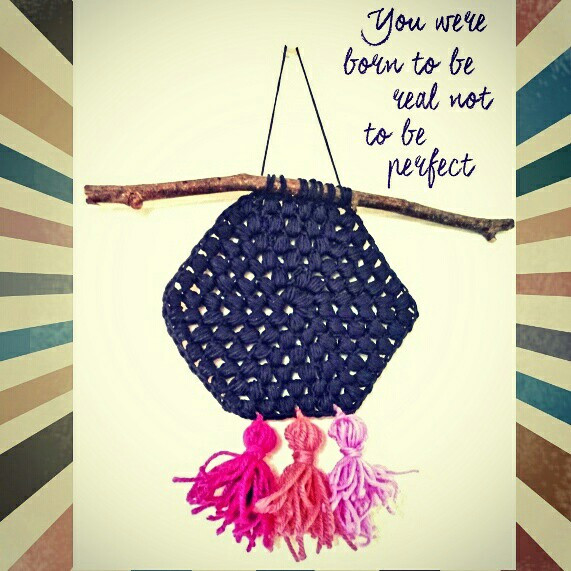 #wallhanging  #hexie #tassels  #inspirationalquotes