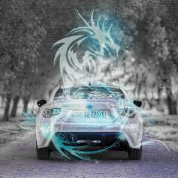 dragon cars subaru car freetoedit