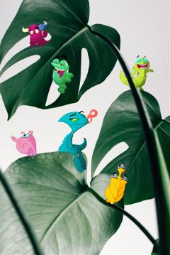freetoedit clipart monster plants