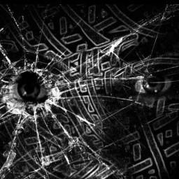 blackandwhite death horror mysterious glass