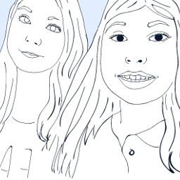 followcookie kawaii twogirls selfie draw