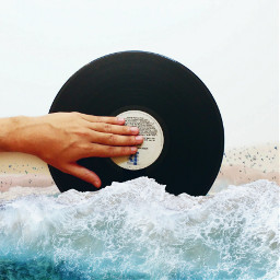 disc hand sea beach people freetoedit