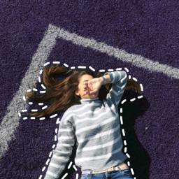 freetoedit purple girl dootedoutline