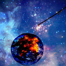 FreeToEdit galaxy world earth