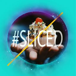 freetoedit sliced galaxy cupcake cute