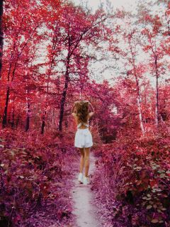 freetoedit forest pink