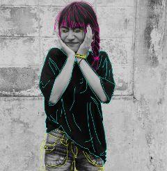 awesome freetoedit girl magenta b